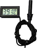 Цифровой термометр влагомер (гигрометр) для инкубатора с выносным датчиком
