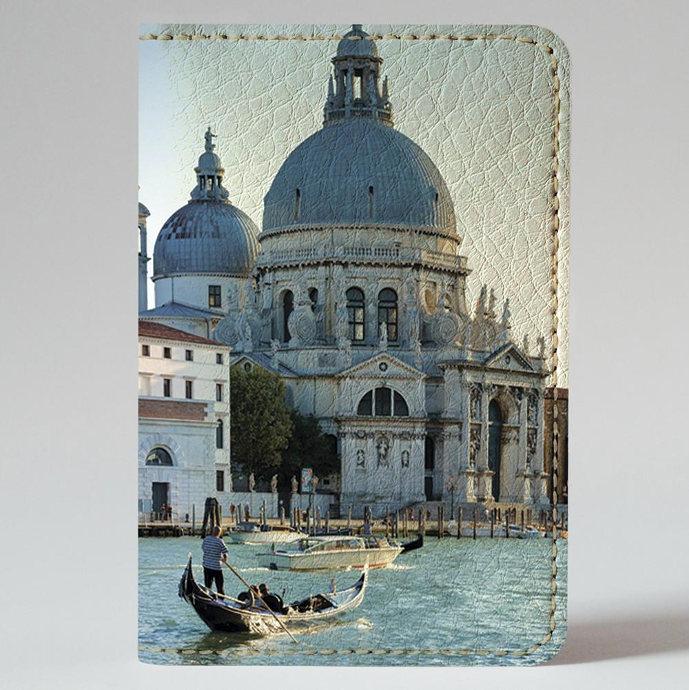 Обложка на автодокументы Fisher Gifts v.1.0. 342 Венеция днем (эко-кожа)