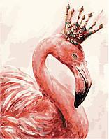"""Картина раскраска по номерам """"Королевский фламинго"""" для взрослых и детей"""