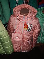 Очаровательная куртка для девочек в расцветке, фото 1