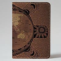 Обложка на автодокументы Fisher Gifts v.1.0. 373 Черепаха мира (эко-кожа)