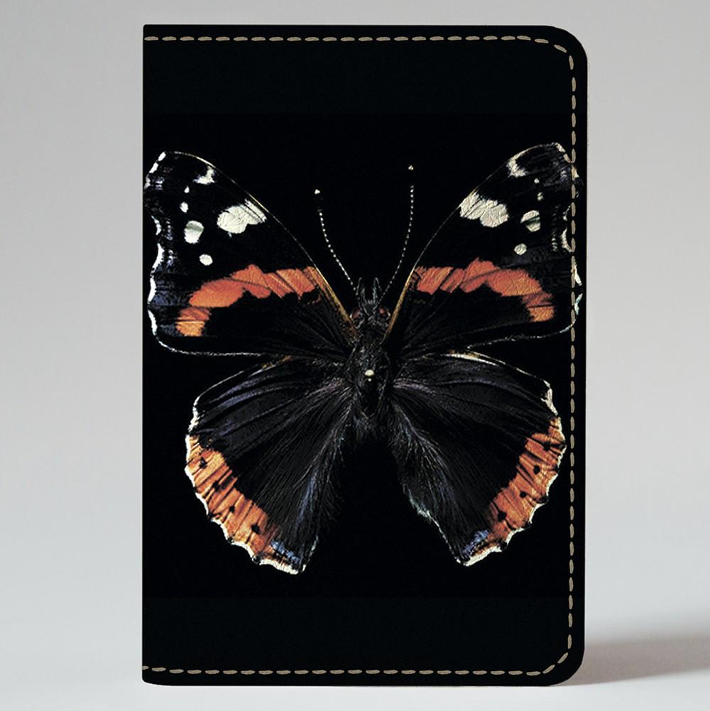 Обложка на автодокументы Fisher Gifts v.1.0. 372 Черная бабочка (эко-кожа)
