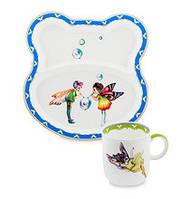 Набор детской посуды на 2 предмета Эльф JK-166