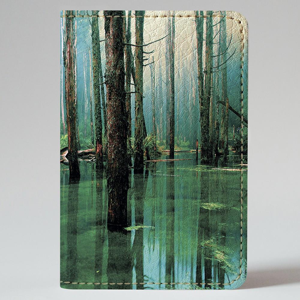Обложка на автодокументы Fisher Gifts v.1.0. 377 Водный лес (эко-кожа)