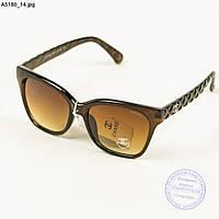 Брендовые солнцезащитные очки женские Chanel - Коричневые - А5180/2