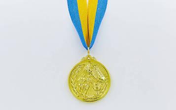 Медаль спортивна зі стрічкою Біг(діаметр 5 см)