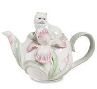 """Фарфоровый заварочный чайник """"Котенок с ирисом"""" (Pavone) 550 мл CMS - 04/ 1"""