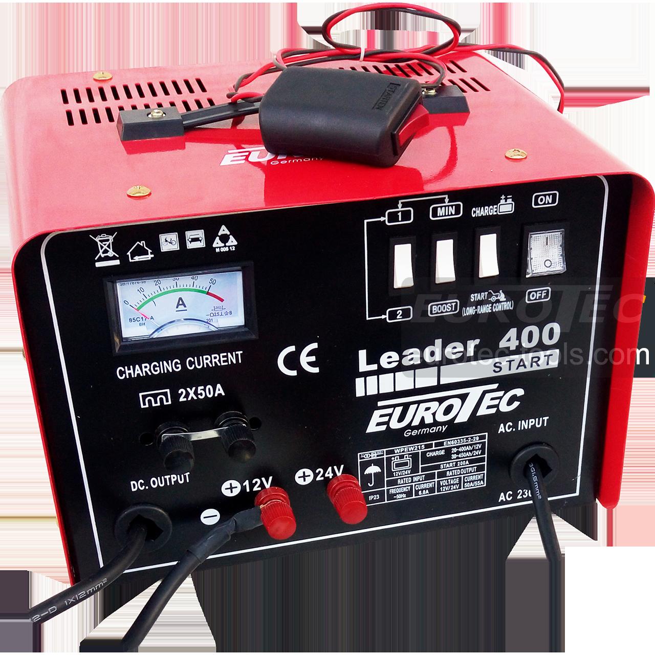 Пуско-зарядний пристрій 200 А для акумулятора авто, швидка зарядка Boost, 12/24 В, 50/55 А, Eurotec EW 215