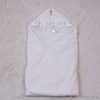 Крестильное махровое полотенце Бантик айвори