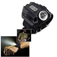 Тактические часы, сверхъяркий фонарь (Q5) HL-333