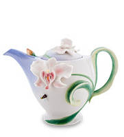 """Фарфоровый заварочный чайник """"Орхидея"""" (Pavone) 900 мл FM- 37/ 1"""