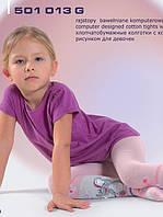 Детские демисезонные колготки для девочки с выпуклым рисунком