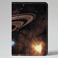 Обложка на автодокументы Fisher Gifts v.1.0. 516 Планета и астероиды (эко-кожа)