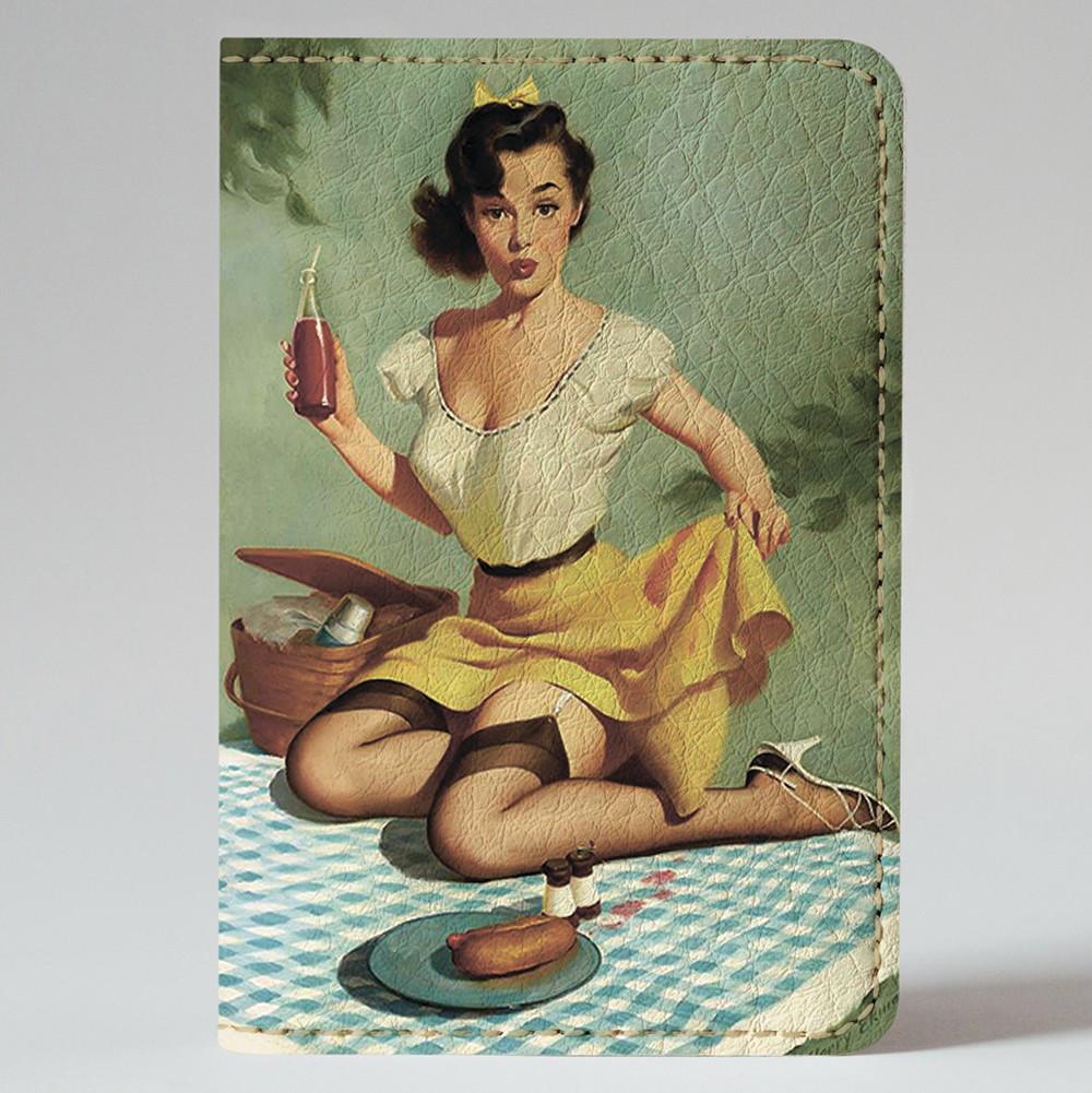 Обложка на автодокументы Fisher Gifts v.1.0. 555 Пин-ап. Пикник (эко-кожа)