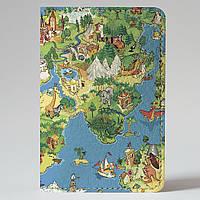 Обложка на автодокументы Fisher Gifts v.1.0. 561 Карта мира-весёлый арт (эко-кожа)