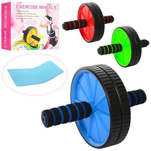 Тренажер MS 0871-1  колесо для мышц пресса, 29см, 3 цвета, в кор-ке,24