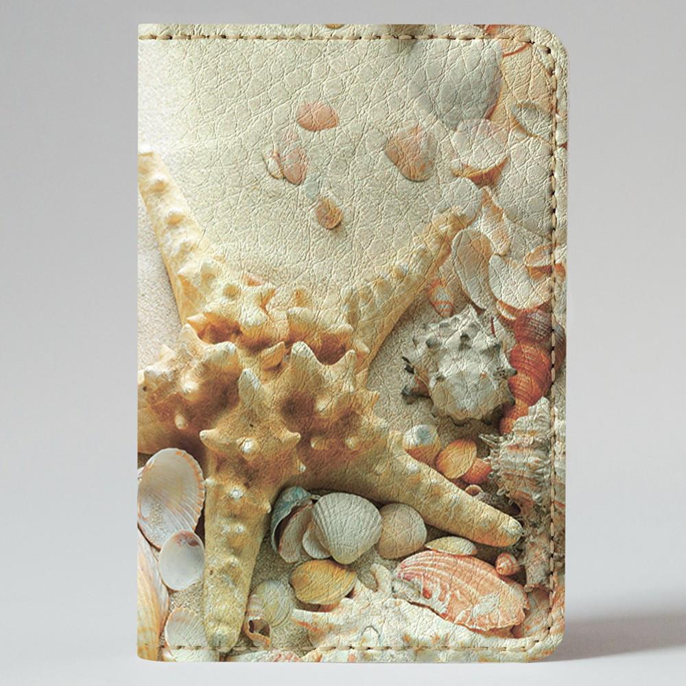 Обложка на автодокументы Fisher Gifts v.1.0. 585 Морские звёзды на песке (эко-кожа)