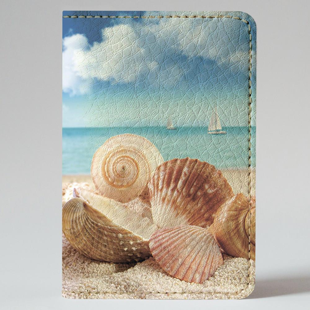 Обложка на автодокументы Fisher Gifts v.1.0. 588 Раковины на пляже (эко-кожа)
