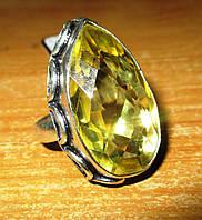 """Симпатичное кольцо """"Санта"""" с цитрином, размер 20  от студии LadyStyle.Biz"""
