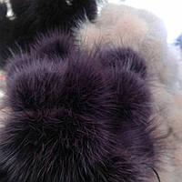 Меховой бубон(помпон) из норки Бордо 4-6 см