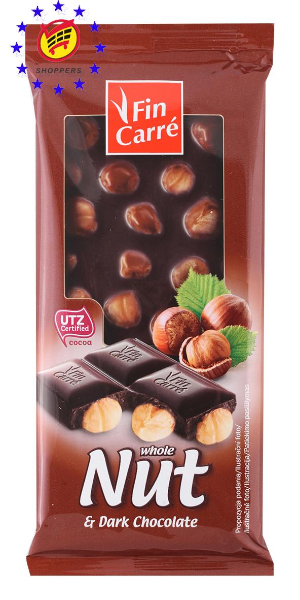 Шоколад Fin Carre whole Nut finest milk and dark chocolate 100г