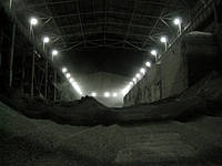 Монтаж надсилосной галереи силосного склада клинкера.
