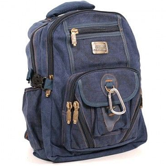 Рюкзак GOLDBE 0107 с карабином Синий