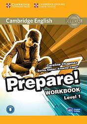 Cambridge English Prepare! 1 Workbook with Downloadable Audio (Рабочая тетрадь)