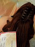 Хвост-шиньон кучерявый на крабе каштаново-красный  6871-33A, фото 8