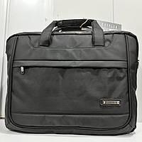 Деловая мужская сумка  для ноутбука и документов фирмы Cartlor (17 д). Универсальная сумка - портфель.