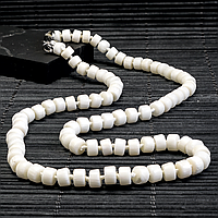 Коралл белый, бусы, 343БСК, фото 1