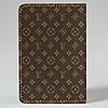 Обложка на автодокументы Fisher Gifts v.1.0. 748 Lui Vuitton коричневый фон (эко-кожа), фото 5