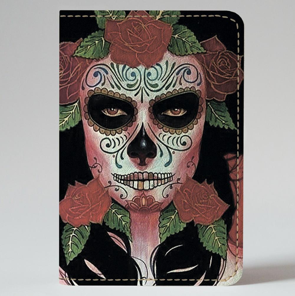 Обложка на автодокументы Fisher Gifts v.1.0. 759 Девушка Santa Muerte (эко-кожа)