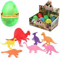 Яйцо 8807  10см, динозавры 7шт, от 4см, 6шт(микс видов)в дисплее, 27-18-12см