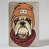Обложка на автодокументы v.1.0. Fisher Gifts 793 Бульдог в шапке (эко-кожа), фото 5
