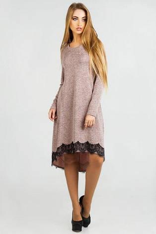 Новое нарядное женское платье Римма ангора пудра цвет  размер 42, 44, 46, 48, 50, фото 2