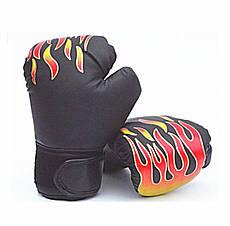 """Перчатки боксерские детские """"Пламя""""  6 oz черный"""