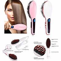 Расческа выпрямитель волос Fast Hair Straightener с Led дисплеем