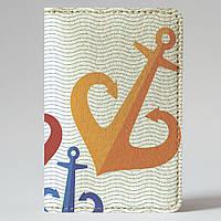 Обложка на автодокументы Fisher Gifts v.1.0. 883 Три якоря (эко-кожа)