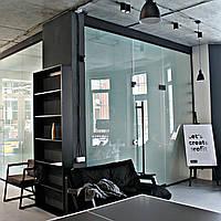 Стеклянная перегородка, офисная перегородка из стекла, межкомнатная перегородка из стекла, СП3