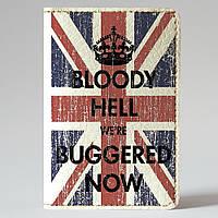 Обложка на автодокументы Fisher Gifts v.1.0. 894 Флаг Британии и корона (эко-кожа)