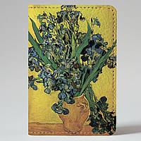 Обложка на автодокументы Fisher Gifts v.1.0. 902 Винсент Ван Гог, Ирисы (эко-кожа)