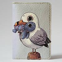 Обложка на автодокументы Fisher Gifts v.1.0. 950 Чайка и черепаха (эко-кожа)