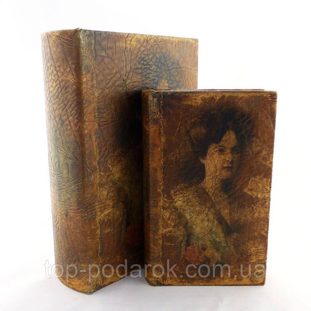 Книга шкатулка набор их 2 штук Дама с розой
