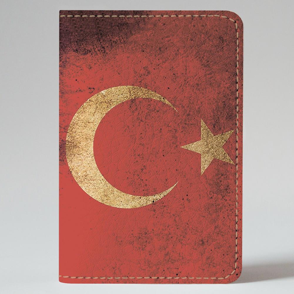 Обложка на автодокументы v.1.0. Fisher Gifts 994 Флаг Турции old (эко-кожа)