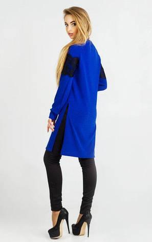 Новая женская платье-туника Елина ангора  цвет синий электрик  размер 42, 44, 46, 48, фото 2