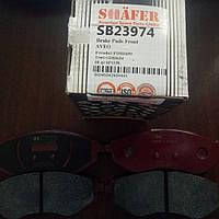 Передние тормозные колодки на Chevrolet Aveo Shafer