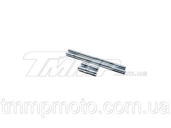 Шпильки карбюратора и глушителя 168F (4 шт, 2 длинные и 2 короткие) Артикул: H-1053, фото 2