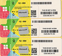 Microsoft Windows 10 Professional 64-bit, RUS, лицензионная наклейка (FQC-08909) new