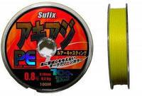 Плетенка Sufix PE желтая 135м